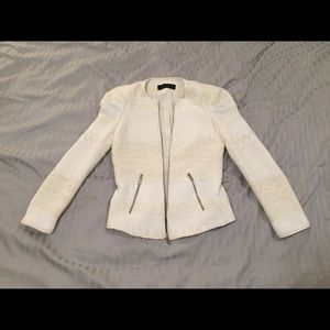 Zara off-white/cream textured jacket in size S
